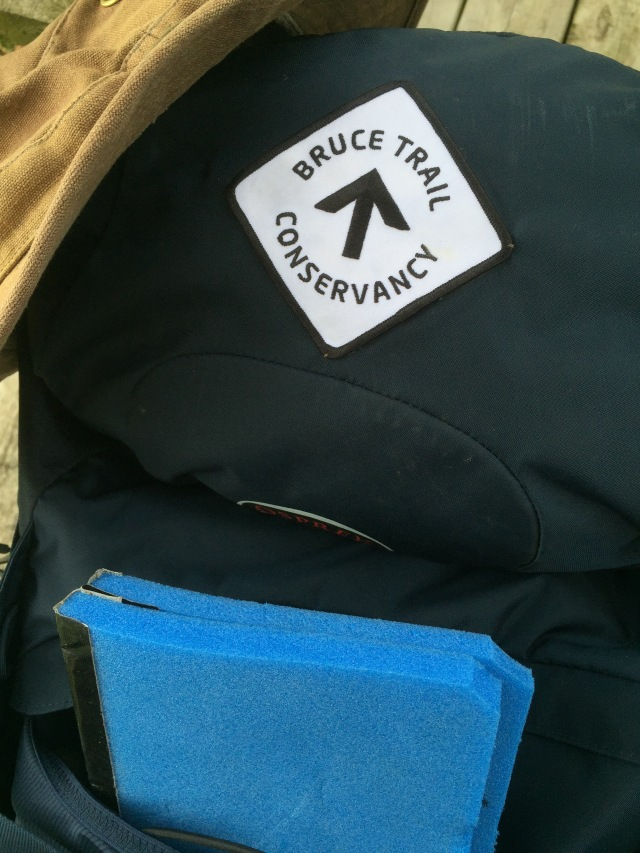Bruce Trail badge on pack.jpg